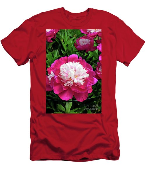The Most Beautiful Peony Men's T-Shirt (Slim Fit) by Eva Kaufman