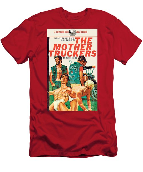 Men's T-Shirt (Slim Fit) featuring the painting The Mother Truckers by Unknown Artist