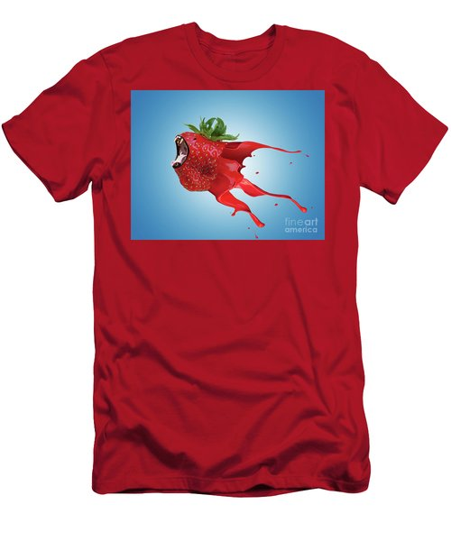 Men's T-Shirt (Slim Fit) featuring the photograph The New Gmo Strawberry by Juli Scalzi