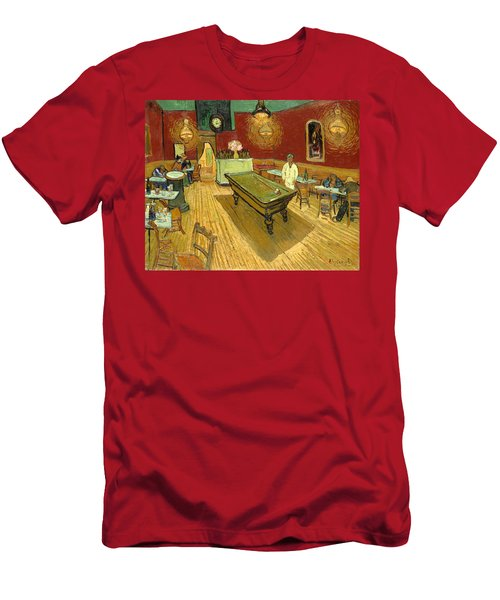The Night Cafe Auto Contrasted Men's T-Shirt (Athletic Fit)