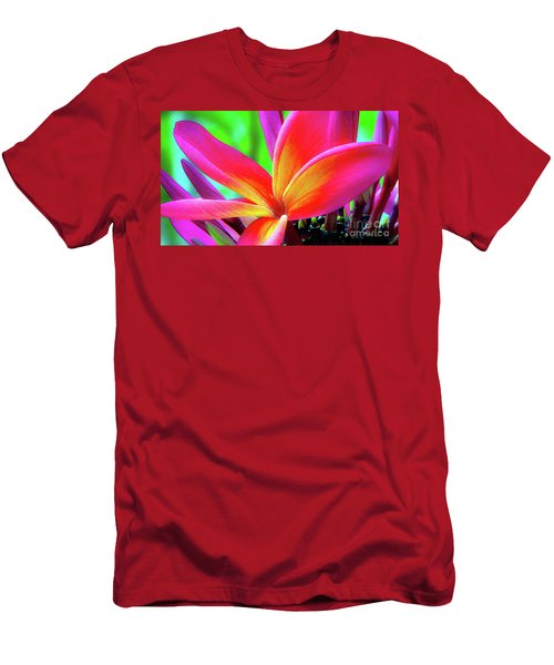 The Plumeria Flower Men's T-Shirt (Athletic Fit)