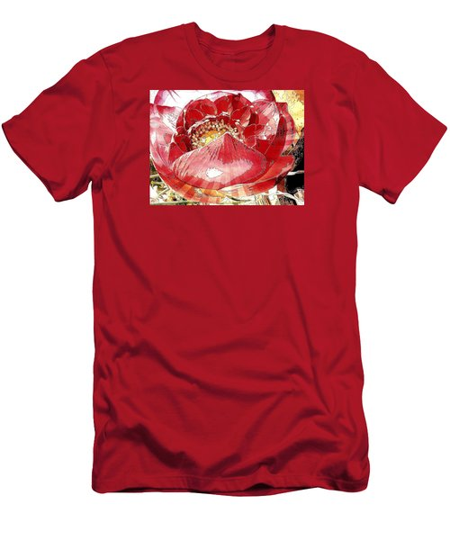 The Red Flower Blooms Men's T-Shirt (Athletic Fit)