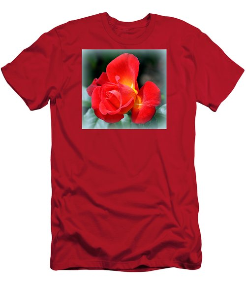 The Red Rose Men's T-Shirt (Slim Fit) by AJ  Schibig