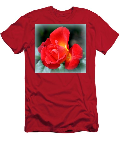 The Red Rose Men's T-Shirt (Athletic Fit)