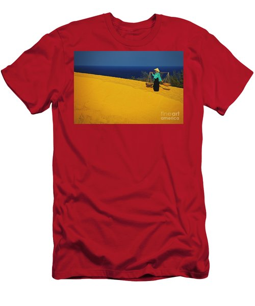 The Red San Dunes Of Mui Ne Vietnam Men's T-Shirt (Athletic Fit)