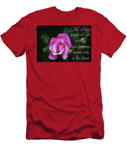 Men's T-Shirt (Athletic Fit) featuring the photograph The Rose by Trina Ansel