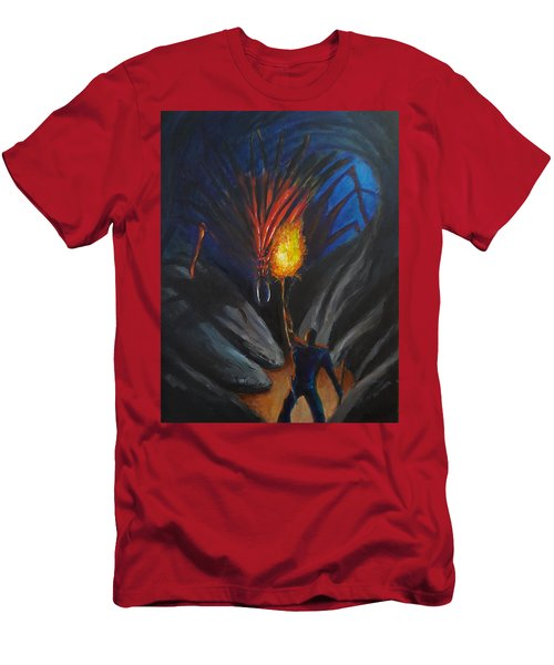 The Thing In The Cave Men's T-Shirt (Slim Fit) by Chris Benice