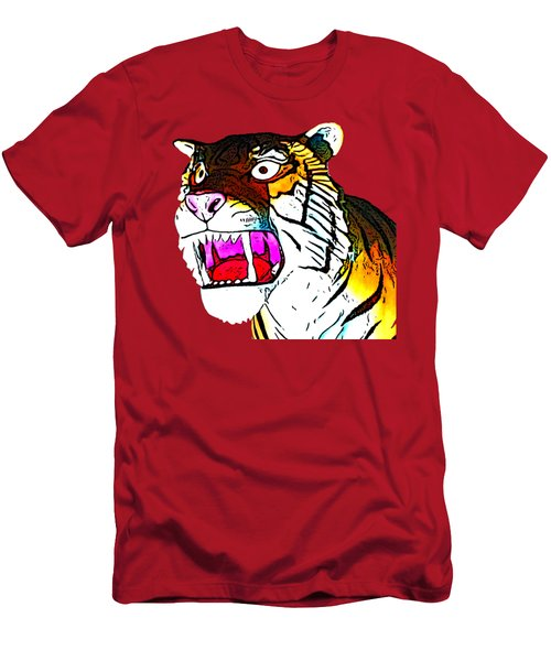 The Tiger Roars Men's T-Shirt (Athletic Fit)