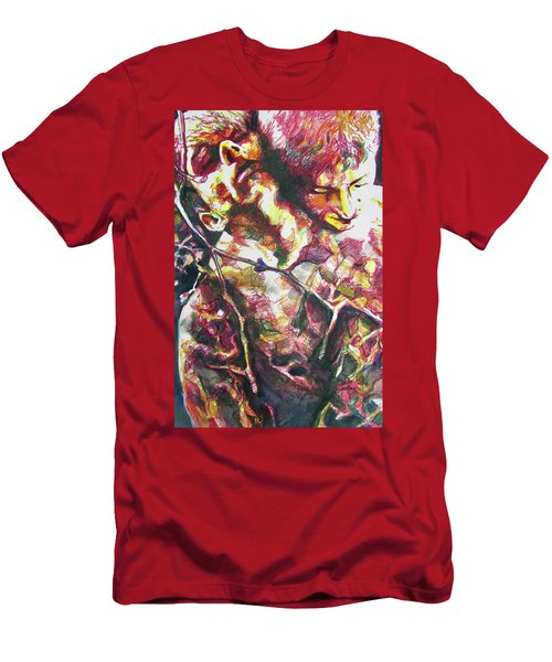 Men's T-Shirt (Athletic Fit) featuring the painting The Warm Breeze Behind The Sun by Rene Capone