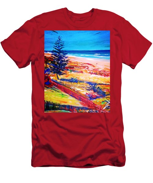 Men's T-Shirt (Slim Fit) featuring the painting The Winter Dunes by Winsome Gunning