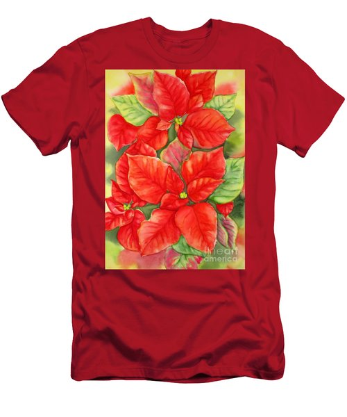 This Year's Poinsettia 1 Men's T-Shirt (Slim Fit) by Inese Poga