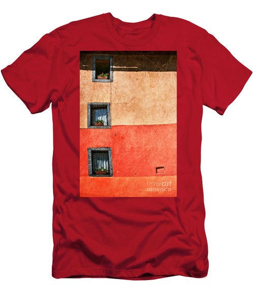 Three Vertical Windows Men's T-Shirt (Athletic Fit)