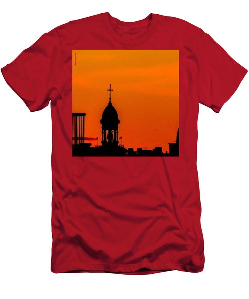 #throwbackthursday #fire In The #sky Men's T-Shirt (Athletic Fit)