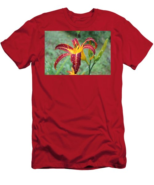 Tigerlily After A Summer Rain Men's T-Shirt (Athletic Fit)
