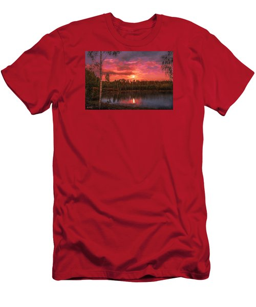 Men's T-Shirt (Slim Fit) featuring the painting Time Of Grace by Rose-Maries Pictures