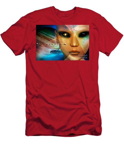 Men's T-Shirt (Slim Fit) featuring the digital art Timeless Traveller by Shadowlea Is
