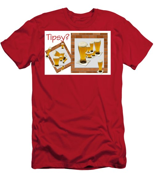 Tipsy ? Men's T-Shirt (Slim Fit) by Tina M Wenger