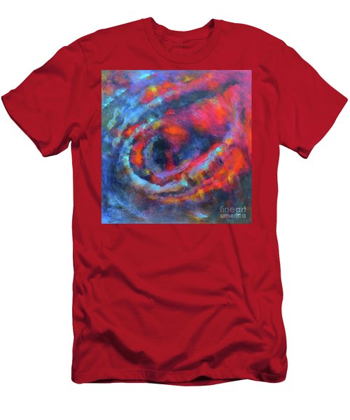 Fantasies In Space Series Painting.galactic Transitions. Acrylic Painting. Men's T-Shirt (Athletic Fit)