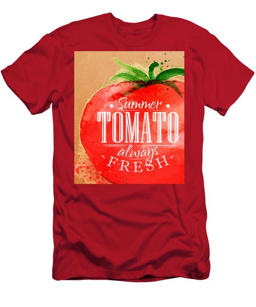 Tomato Men's T-Shirt (Slim Fit) by Aloke Creative Store