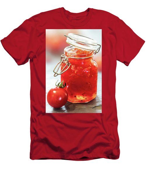 Tomato Jam In Glass Jar Men's T-Shirt (Athletic Fit)
