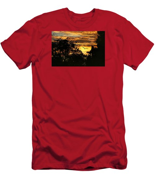 Men's T-Shirt (Slim Fit) featuring the photograph Tomorrow Land by Joan Bertucci