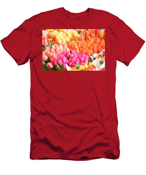 Tons Of Tulips Men's T-Shirt (Athletic Fit)