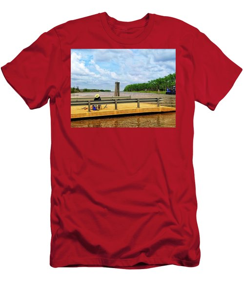 Too Hot To Fish Men's T-Shirt (Athletic Fit)