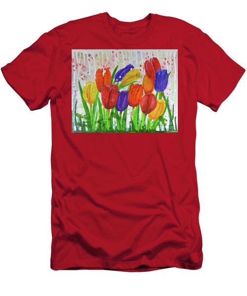 Totally Tulips Men's T-Shirt (Athletic Fit)