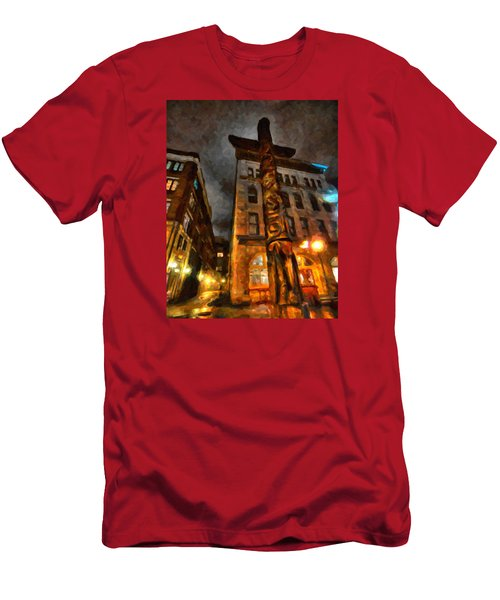 Totem In The City Men's T-Shirt (Slim Fit) by Andre Faubert