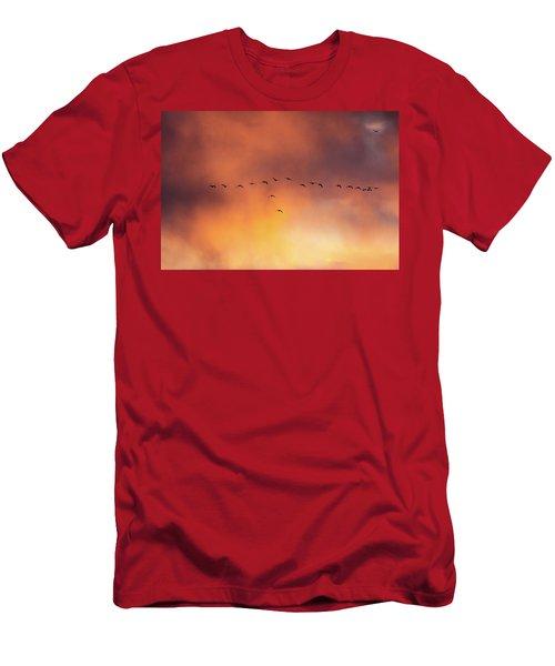Towards The Sun Men's T-Shirt (Athletic Fit)