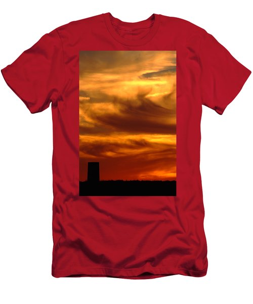 Tower In Sunset Men's T-Shirt (Athletic Fit)