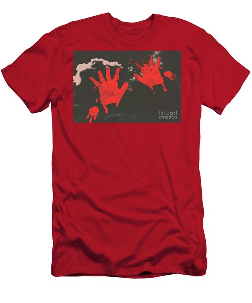 Trace Of A Serial Killer Men's T-Shirt (Athletic Fit)