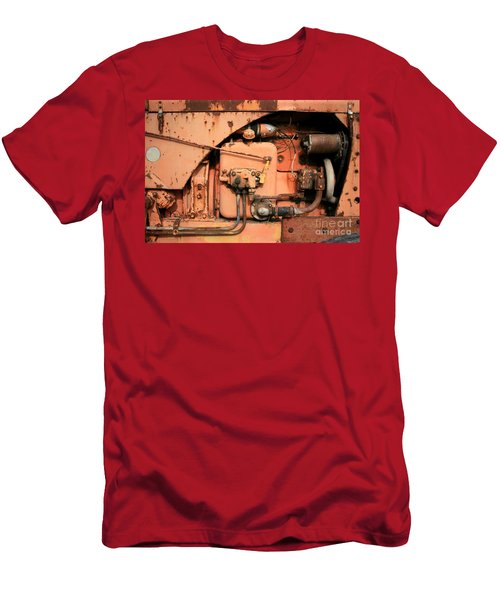 Men's T-Shirt (Slim Fit) featuring the photograph Tractor Engine V by Stephen Mitchell