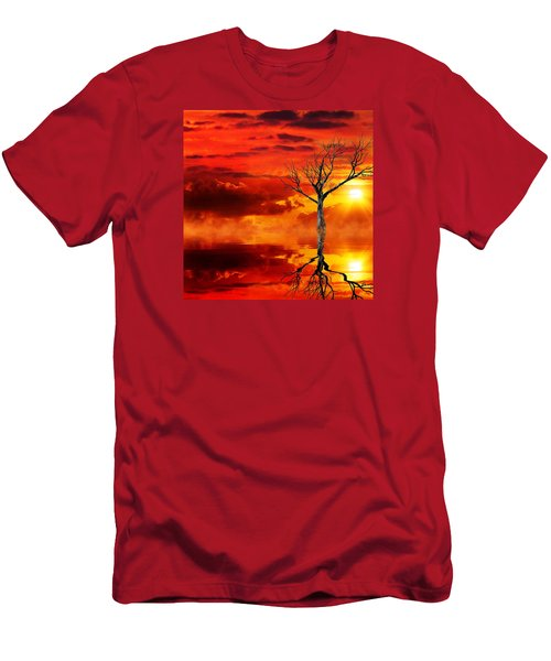 Tree Of Destruction Men's T-Shirt (Slim Fit) by Gabriella Weninger - David