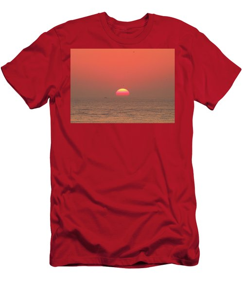 Tricolor Sunrise Men's T-Shirt (Athletic Fit)