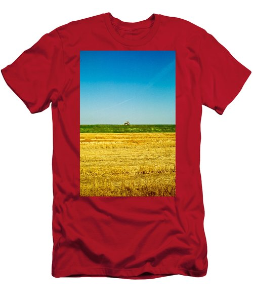 Tricolor With Tractor Men's T-Shirt (Athletic Fit)