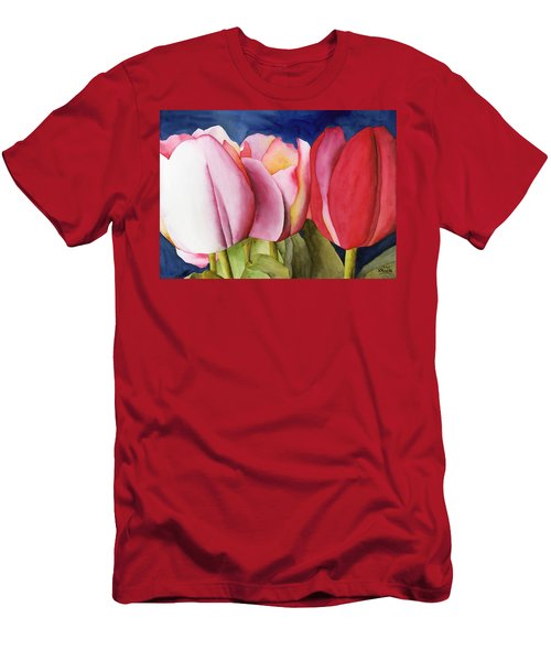 Triple Tulips Men's T-Shirt (Athletic Fit)