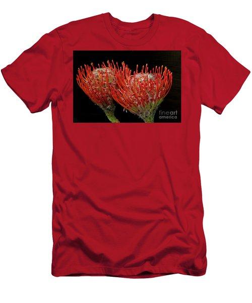 Tropical Flower Men's T-Shirt (Slim Fit) by Elvira Ladocki