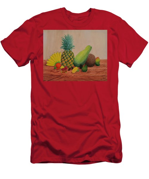 Tropical Fruits Men's T-Shirt (Slim Fit) by Hilda and Jose Garrancho