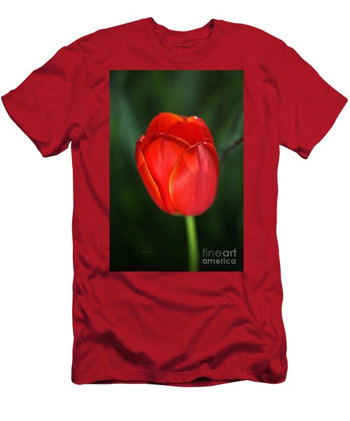 Tulip Red With A Hint Of Yellow Men's T-Shirt (Athletic Fit)
