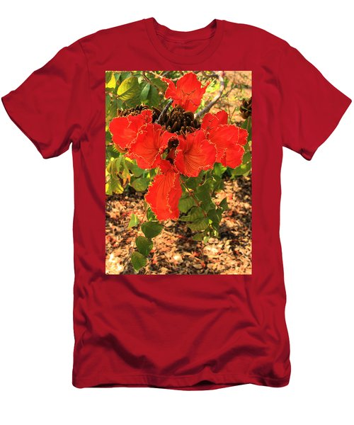 Tulip Tree Flowers Men's T-Shirt (Athletic Fit)