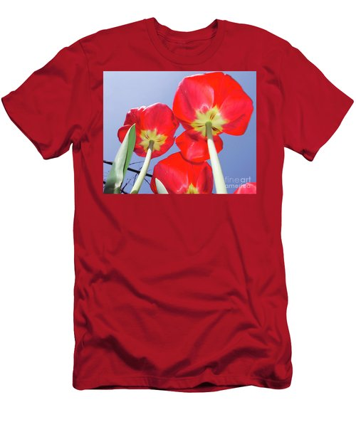 Men's T-Shirt (Slim Fit) featuring the photograph Tulips by Elvira Ladocki