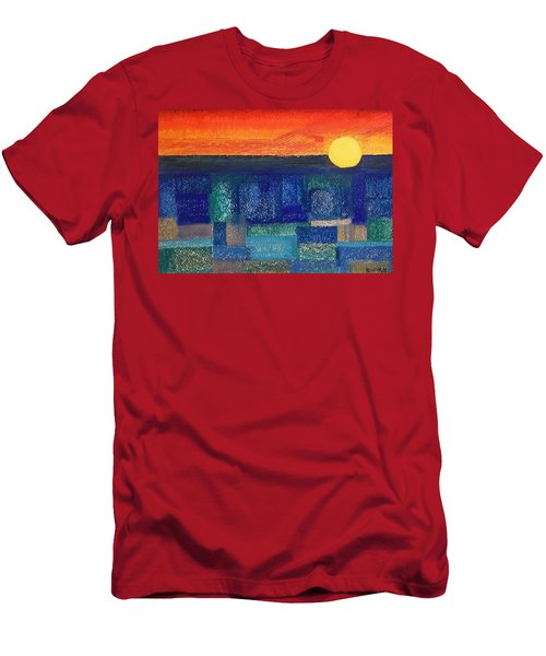Turquoise Sunset Men's T-Shirt (Athletic Fit)