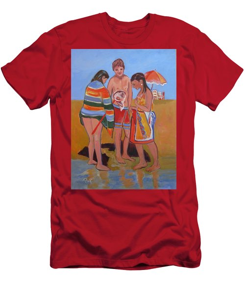 Tweens At The Beach Men's T-Shirt (Athletic Fit)