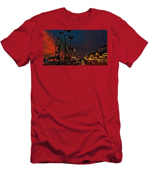 Men's T-Shirt (Slim Fit) featuring the photograph Twilight On The Midway  by John Harding