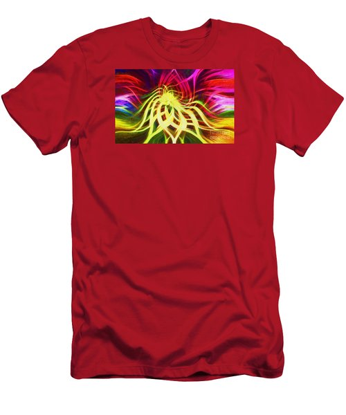 Men's T-Shirt (Slim Fit) featuring the photograph Twirly Mandala 01 by Jack Torcello