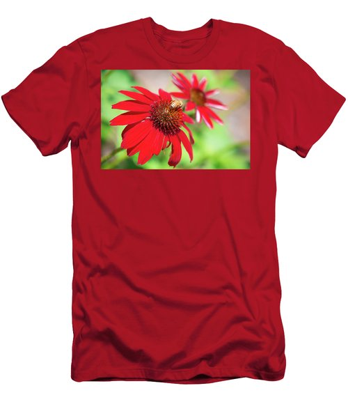Men's T-Shirt (Athletic Fit) featuring the photograph Two Flowers For Every Bee by Brian Hale