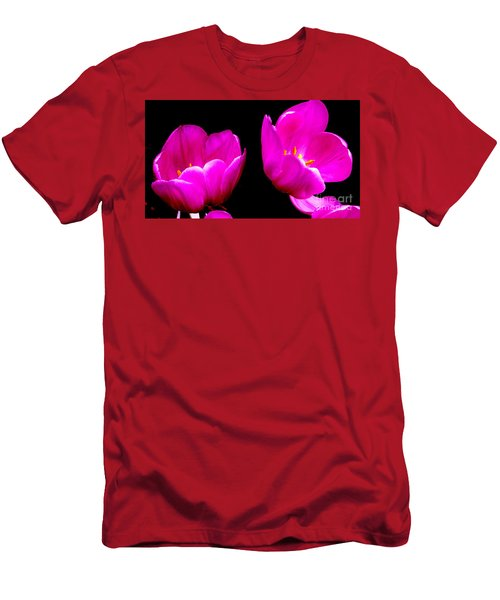 Two Tulips Men's T-Shirt (Slim Fit) by Tim Townsend