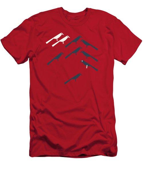 Two White Starlings Men's T-Shirt (Slim Fit)
