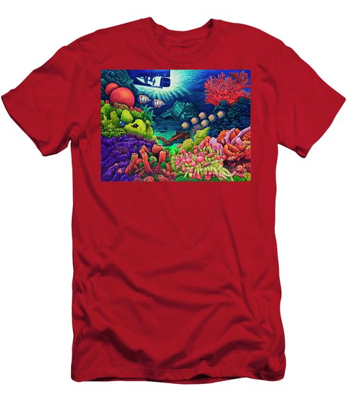 Undersea Creatures Vii Men's T-Shirt (Slim Fit) by Michael Frank